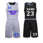 DIY basketball jerseys Set Uniforms kits Child Men Reversible Basketball shirts shorts suit Sports clothes Double-side Sportswea - Hobbyvillage
