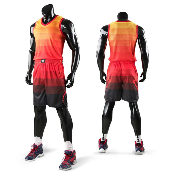 New kids men throwback basketball training jersey set blank college tracksuits breathable basketball jerseys uniforms customized - Hobbyvillage