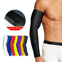 1Pcs Breathable Quick Dry UV Protection Running Arm Sleeves Basketball Elbow Pad Fitness Armguards Sports Cycling Arm Warmers - Hobbyvillage