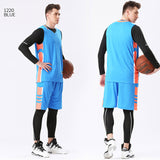 4PCS/Set Winter Basketball Jersey With Compression Tights Mens Sports Tights Sports Jerseys Basketball Shirt Fitness Workout Kit - Hobbyvillage