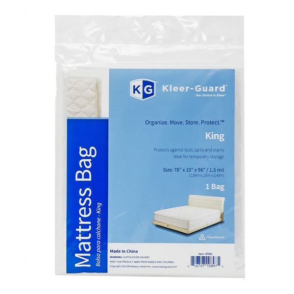 King Mattress Cover<br>1 Bag. 78″ x 10″ x 96″