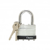 1 3/4″ Chateau Pad Lock - 2 solid brass chrome plated keys.
