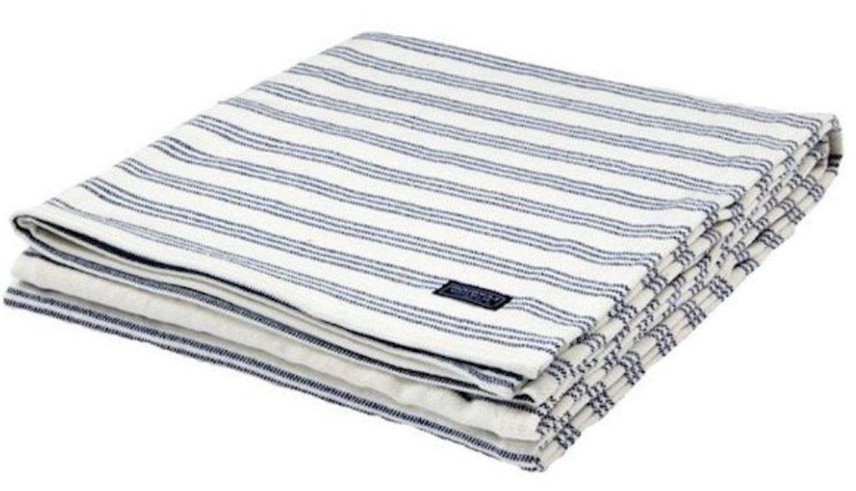 Beacon Stripe Home Throw,  Charcoal and White/Navy