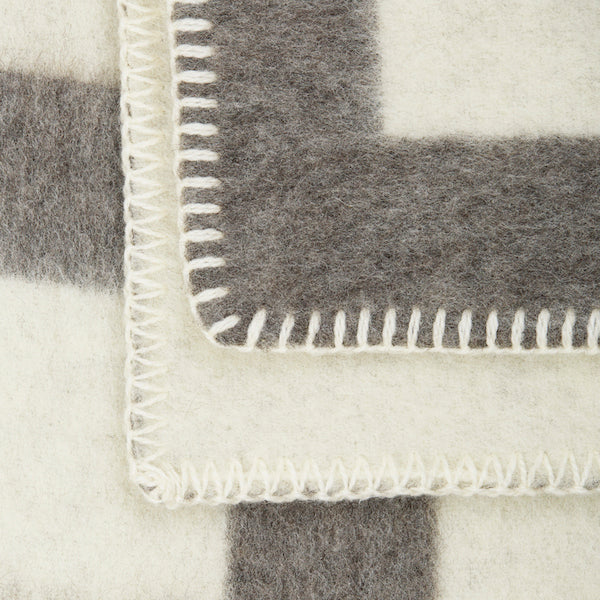 The Brooklyn Blanket in Natural Grey