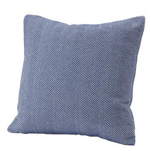 Load image into Gallery viewer, Herringbone Cotton Pillow Cover Deep Blue, 20x20