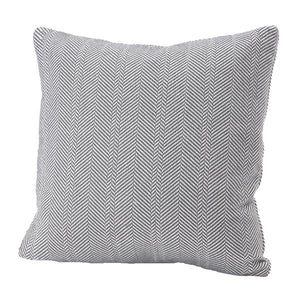 Herringbone Cotton Pillow Cover, Charcoal 20x20