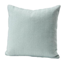 Load image into Gallery viewer, Herringbone Cotton Pillow Cover Sea Glass