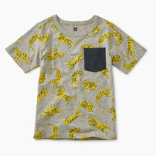 Printed Pocket Tee- Tigers