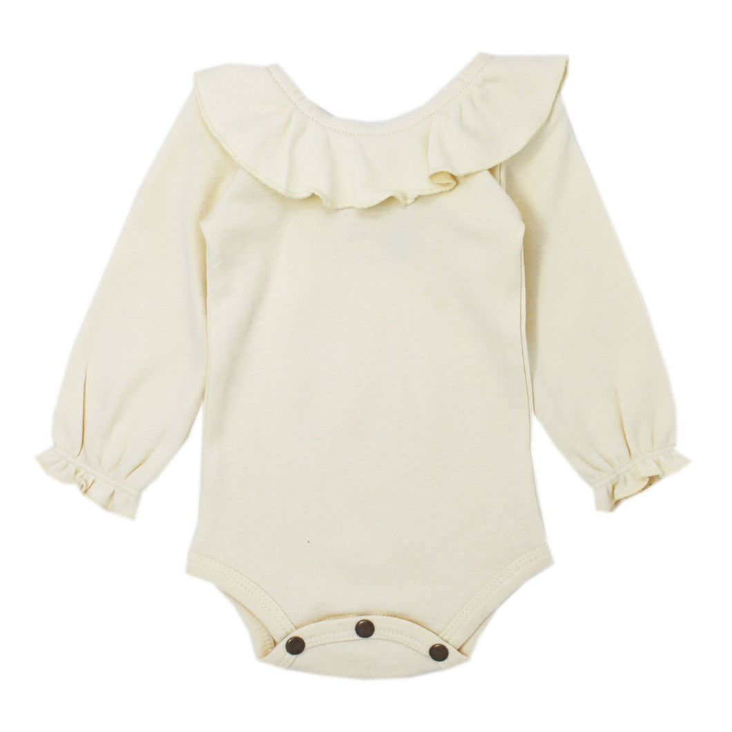 Organic Ruffle Body Suit