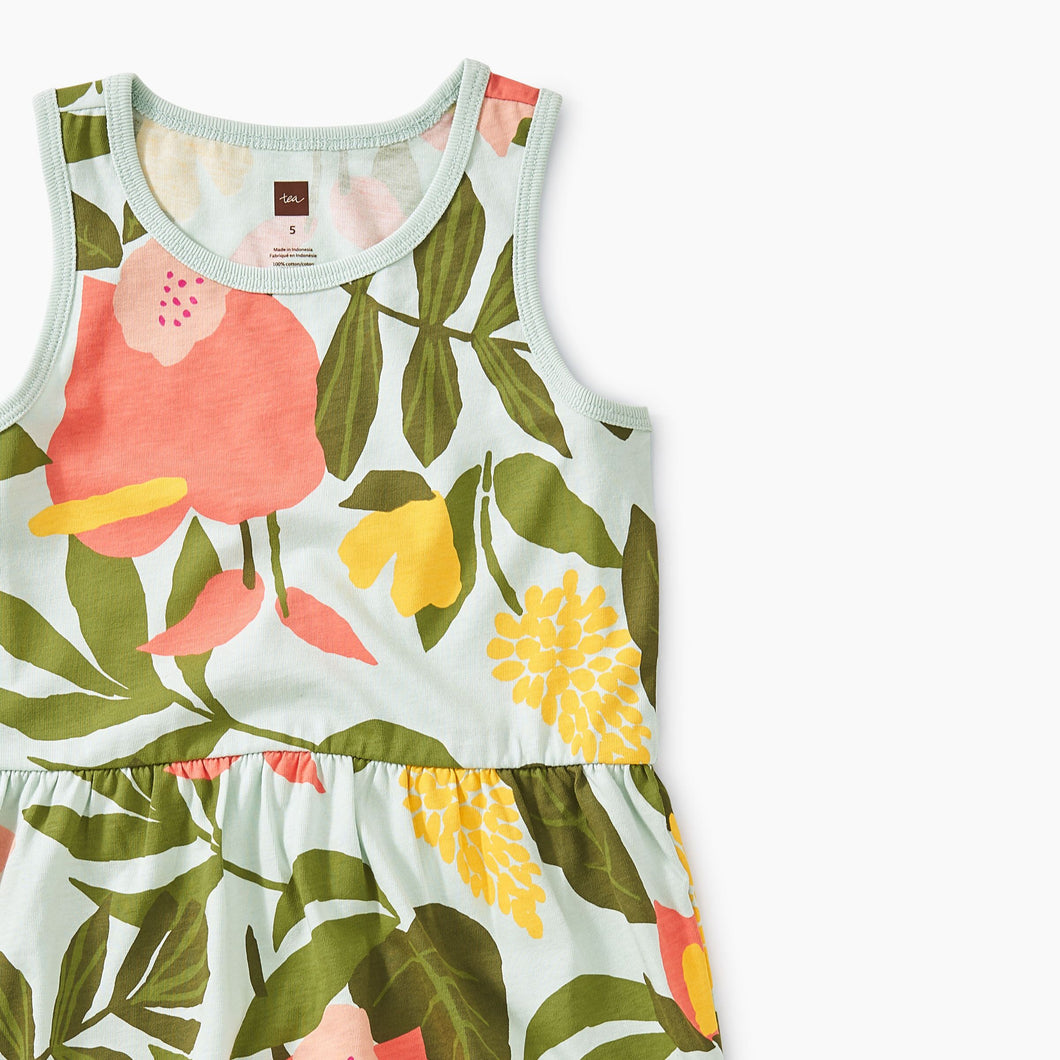 Printed Skirted Tank Dress