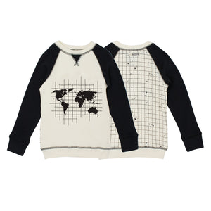 Organic Graphic Sweatshirt in Globe