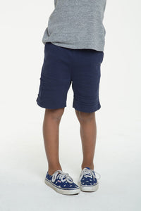 BOYS COTTON JERSEY SHORTS W/ STRAPPINGS