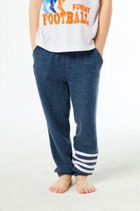 BOYS LOVE KNIT JOGGERS W/ STRAPPINGS