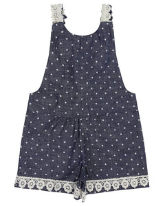 CHAMBRAY DOT PLAYSUIT