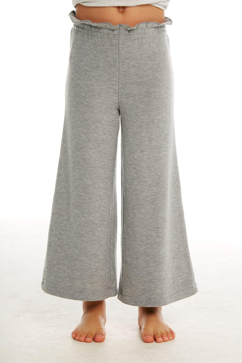 GIRLS COZY KNIT PAPERBAG WAIST WIDE LEG PANT
