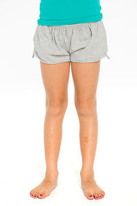 COTTON JERSEY SHIRRED FLOUNCE SHORT