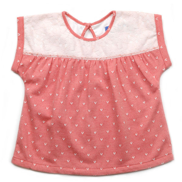 Rosey Hearts Top