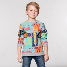 SKATE IT PRINT LONG SLEEVE T-SHIRT SWEATSHIRT STYLE