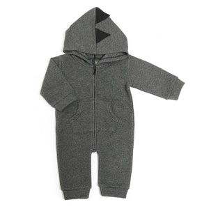 Quilted Mini Diamond zip-up Dino Coverall
