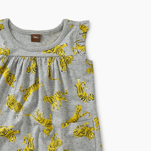 Printed Mighty Mini Baby Dress-Tigers