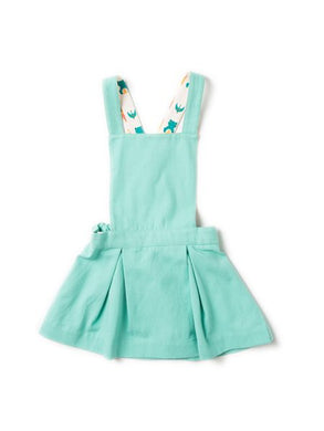 Pale Turquoise Pinafore Dress