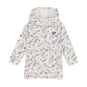UNICORN PRINT FRENCH TERRY HOODED TUNIC