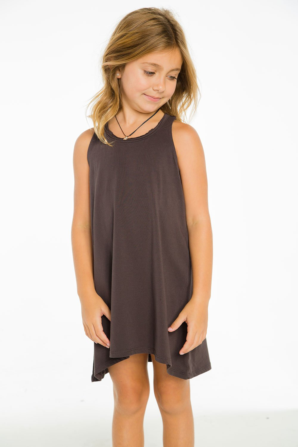 COTTON JERSEY TANK DRESS