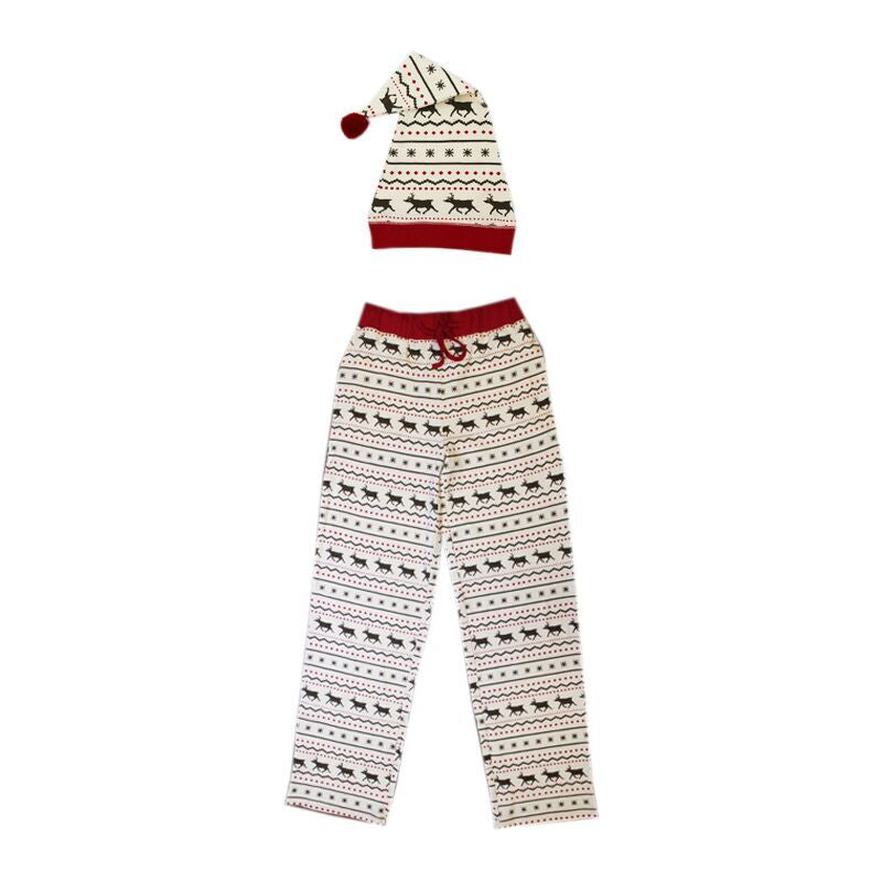 Men PJ Bottoms and Hat- Fair Isle Reindeer