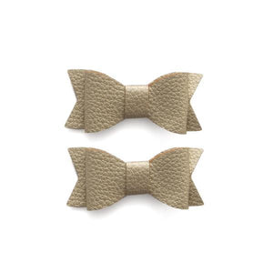 Leather Bow Tie Clips (2pack)