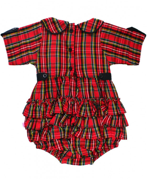 Tristan Plaid Peter Pan Bubble Romper