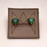 Geometric Stone Stud Earrings