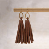 Haggard Short Leather Tassel Earring - Amy Margaret