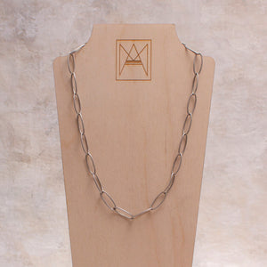 Gwen Oval Chain Choker Necklace - Amy Margaret