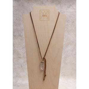 Arizona Leather & Crystal Dagger Lariat - Amy Margaret