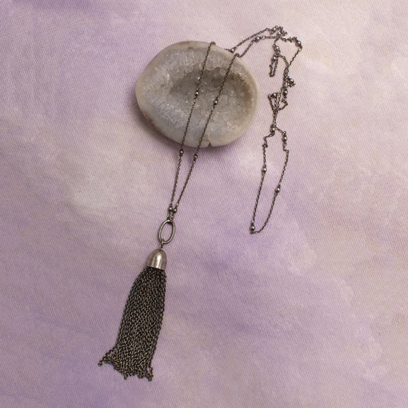 Jimi Metal Tassel Necklace