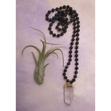 Knotted Lava & Crystal Diffuser Necklace - Amy Margaret
