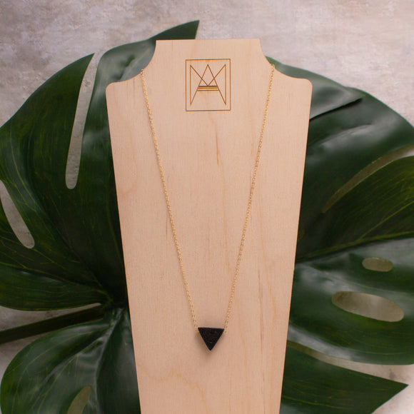 Triangle Lava Necklace