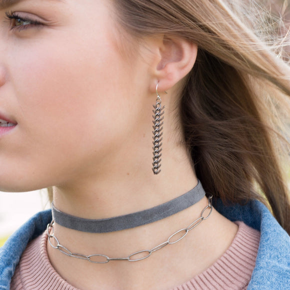 Tiana Suede Choker Necklace - Amy Margaret