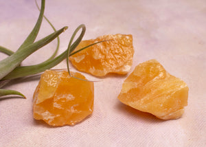 Rough Orange Calcite - Amy Margaret