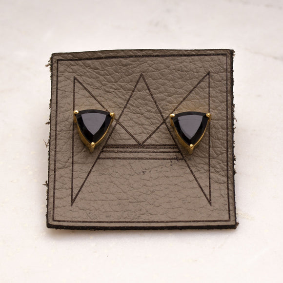 Geometric Stone Stud Earrings - Amy Margaret