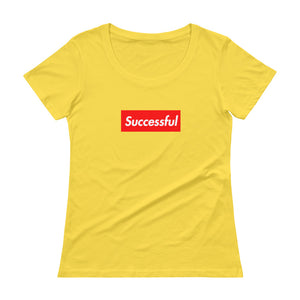 Successful Ladies' Box Logo Scoop neck T-Shirt (see additional colors) - Athletic Inspirations Apparel