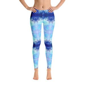 Blue Water Color Leggings - Athletic Inspirations Apparel