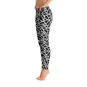 Women's Black Chips Graphic Leggings - Athletic Inspirations Apparel