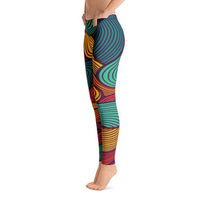Women's Funky Color Swirl Leggings - Athletic Inspirations Apparel