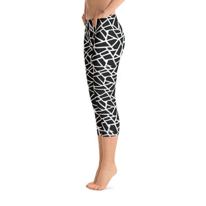 Women's Black Ice Graphic Capri Leggings - Athletic Inspirations Apparel