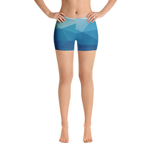 Woman's Blue Prism Graphic Spandex Shorts - Athletic Inspirations Apparel