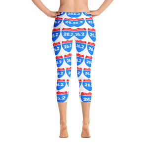Full Marathon Interstate 26.2 Capri Leggings - Athletic Inspirations Apparel