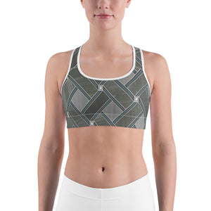 Women's Grey Zag Graphic Sports bra - Athletic Inspirations Apparel