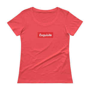 Exquisite Ladies 'Box Logo Scoop neck T-Shirt - Athletic Inspirations Apparel