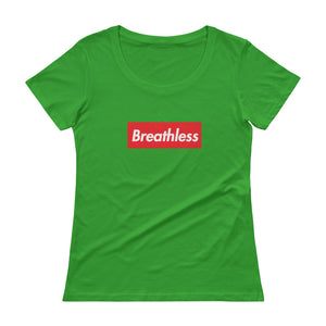 Breathless Ladies'  Box Logo Scoop neck T-Shirt (see additional colors) - Athletic Inspirations Apparel